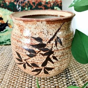 Handcrafted speckled pottery